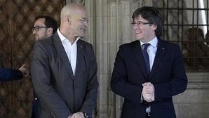 Raül Romeva y Carles Puigdemont