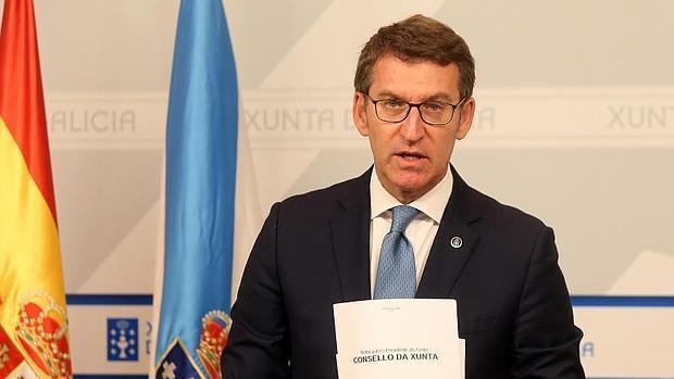 Alberto Núñez Feijóo, este miércoles en el Consello de la Xunta