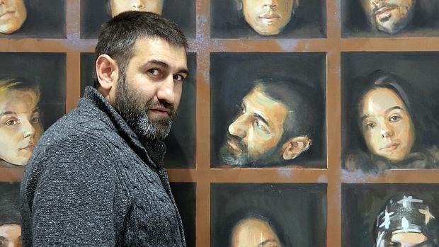 Alberto Fernández Hurtado, en su galería de Segovia