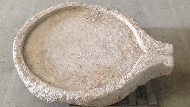 Imagen de la regaifa recuperada y depositada en el Museo de Calatayud