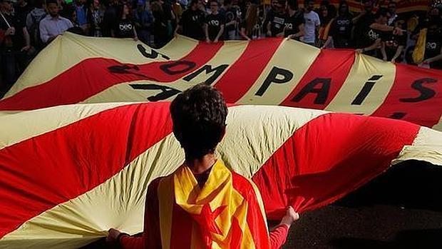 Imagen de una manifestación catalanista en Valencia
