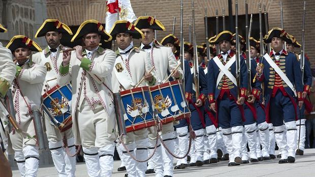 Relevo de la Guardia el pasado año en el Alcázar de Toledo