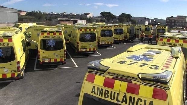 Flota de ambulancias de la empresa Egara