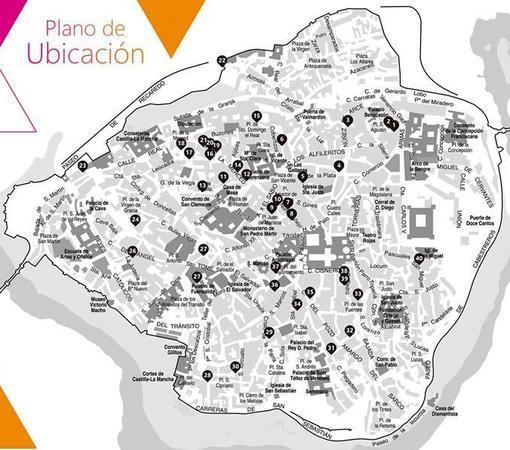 Plano de los patios en Toledo