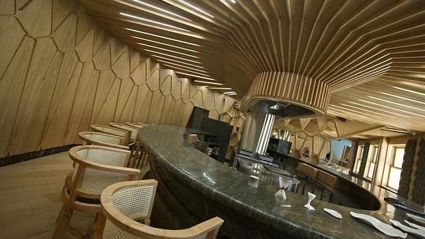 Barra del restaurante A'Barra de Madrid