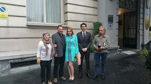 John Hemngway, segundo por la izquierda, esta semana en Bilbao