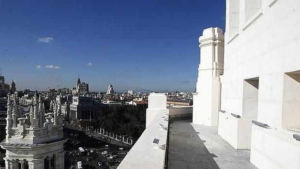 Terrazas del Palacio de Cibeles, sede del Ayuntamiento de Madrid