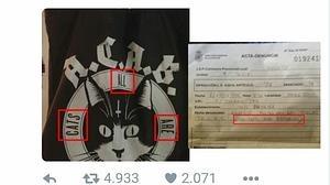 La Policía denuncia a una mujer por llevar un bolso con gatos y las siglas A.C.A.B. y creer que les insultaba