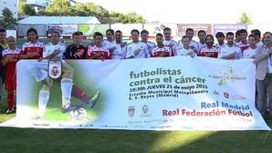 Las viejas glorias del fútbol madrileño le meten un gol al cáncer