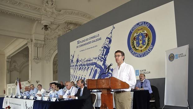 Alberto Núñez Feijóo durante su intervención en el Consello da Galeguidade