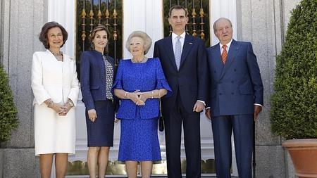 Los Reyes con la Princesa Beatriz, Don Juan Carlos y Doña Sofía en La Zarzuela