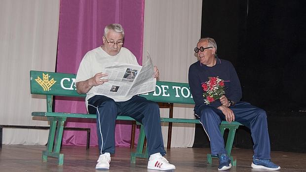 Ensayo del grupo de teatro de Añover de Tajo
