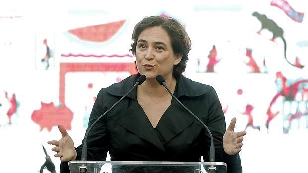 Ada Colau, en un acto de Barcelona en Comú