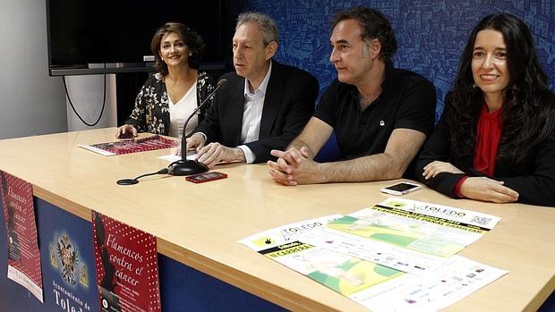 Marina González, José María González Cabezas, Esteban Varadé y Mónica Monte, en la rueda de prensa