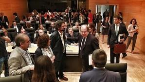 Herrera, minutos antes de comparecer en la Comisión de Investigación sobre el Hospital de Burgos