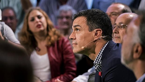 El secretario general del PSOE, Pedro Sánchez, ayer en las Palmas de Gran Canaria