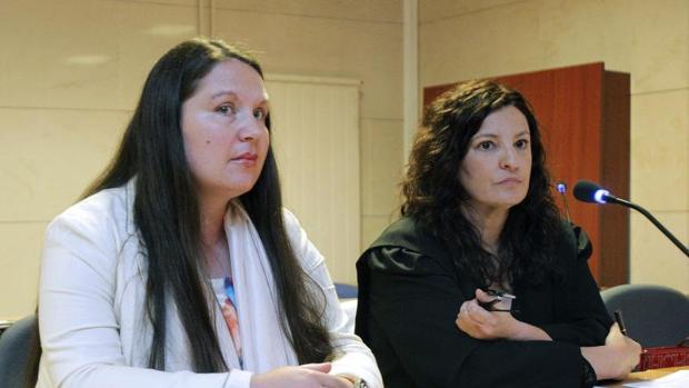 La acusada, durante la primera sesión del juicio, ayer en Santiago