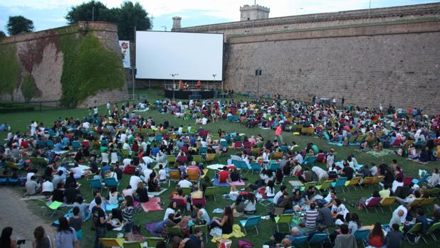 El cine de verano de Montjuïc
