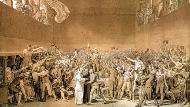 Cuadro «Juramento del Juego de Pelota», obra de Jacques-Louis David