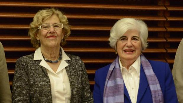 Manuela Carmena y Francisca Sauquillo, en la presentación del Comisionado el pasado mayo