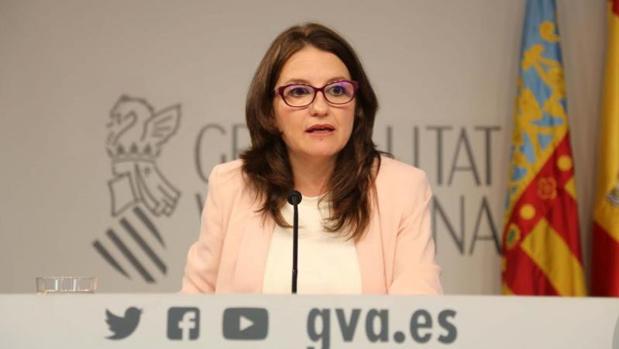 Mónica Oltra, en la rueda de prensa posterior al pleno del Consell