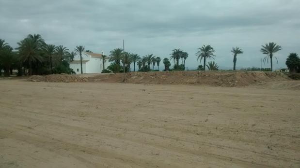 Imagen de la zona en la que tendrá lugar el festival, ya medio acondicionada