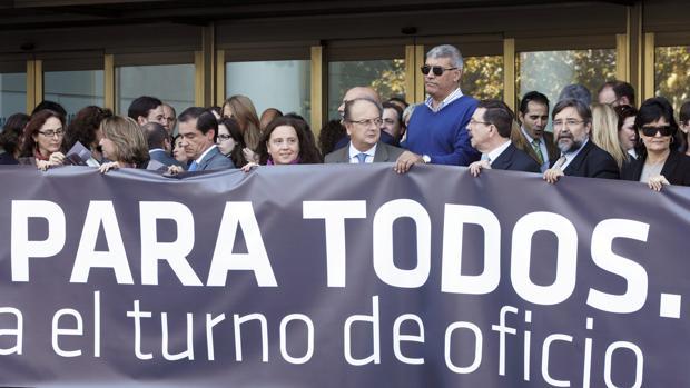 Imagen de archivo de una protesta de los abogados valencianos