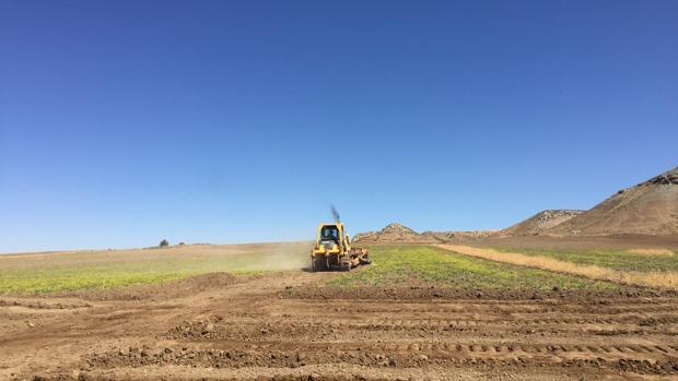Una máquina preparaba este miércoles el terreno del nuevo tramo