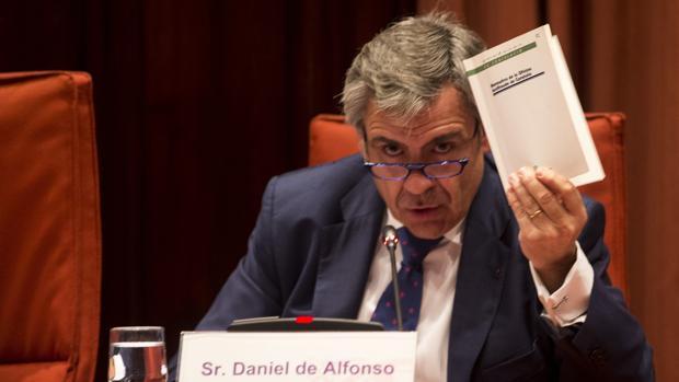 Daniel de Alfonso durante su comparecencia hoy en el Parlament