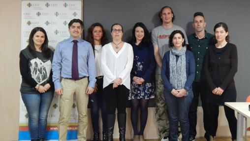 Imagen del grupo de investigadores del CEU