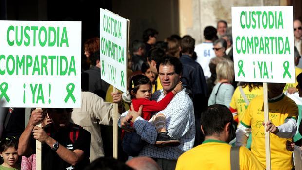 Imagen de archivo de una manifestación por la custodia compartida