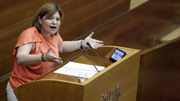 Imagen de la presidenta del PP valenciano, Isabel Bonig, durante el debate