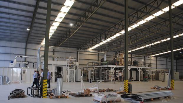 La nueva factoría está en pleno proceso de montaje