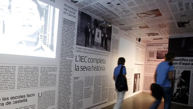 Imagen de la exposición sobre los «países catalanes» organizada por el IEC