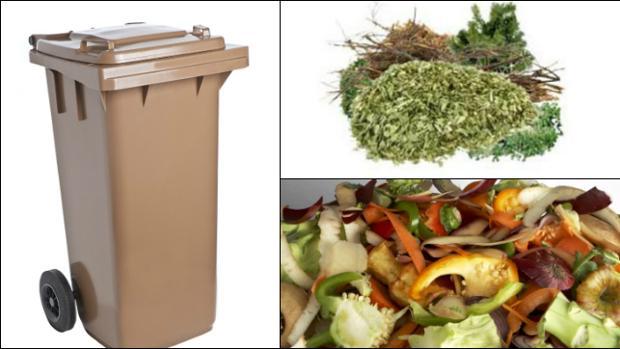 El contenedor marrón esta dedicado a los restos orgánicos