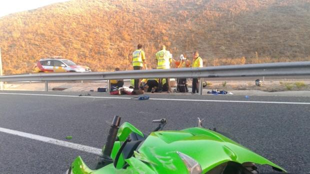 Siniestro mortal en 2014 en la M-45 por colisión con un «quitamiedos»