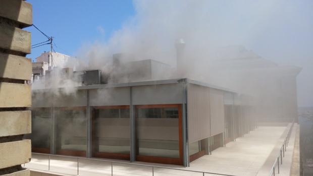 Consiguen controlar el incendio en el colegio de arquitectos en alicante - Colegio arquitectos toledo ...