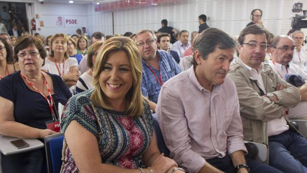 Díaz, Fernández, Fernández Vara y Lambán en el Comité Federal del PSOE