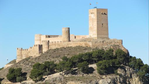 Vista del castillo de Biar