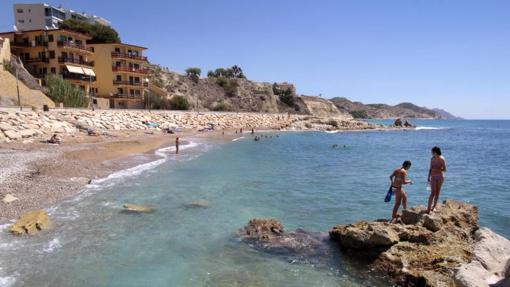 Playa de los estudiantes, en Villajoyosa