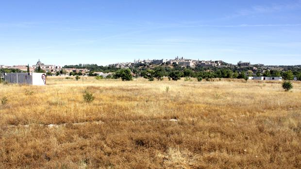 Imagen actual de la parcela de Vega Baja, donde se encuentran los restos de la ciudad visigoda