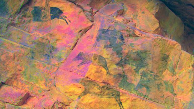 La escena de caza que han descubierto los arqueólogos valencianos