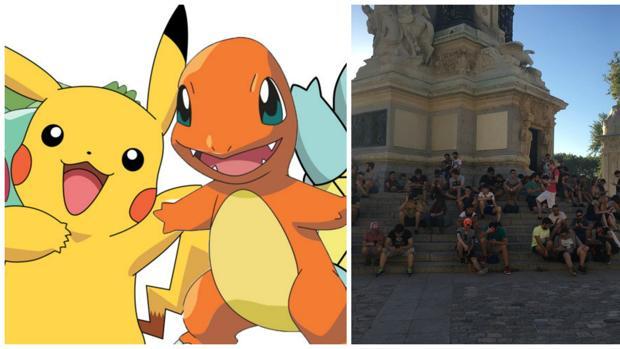 Jugadores de Pokémon Go en El Retiro