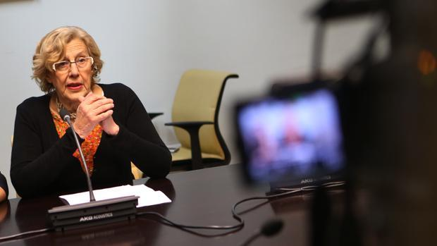 Carmena, en una entrevista de televisión