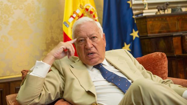 José Manuel García-Margallo, el viernes en su despacho del Ministerio de Asuntos Exteriores