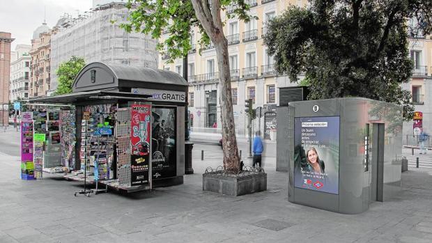 Madrid inicia el desmontaje de sus viejos aseos y chirimbolos - Mobiliario urbano madrid ...