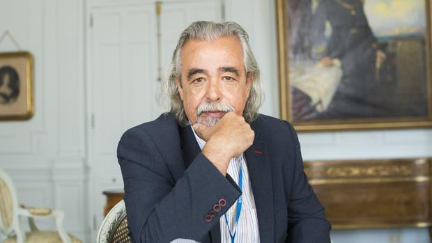 El ex portavoz de IU en el Ayuntamiento de Madrid, Ángel Pérez, en Santander