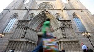 Exterior de la Basílica de Santa María del Mar, en Barcelona