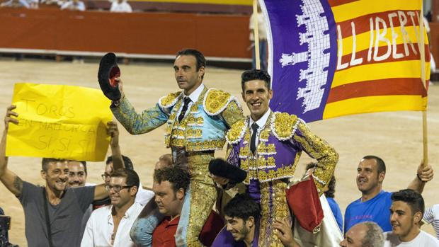 Enrique Ponce y Alejandro Talavante en la que podría ser la última corrida de toros en Palma de Mallorca