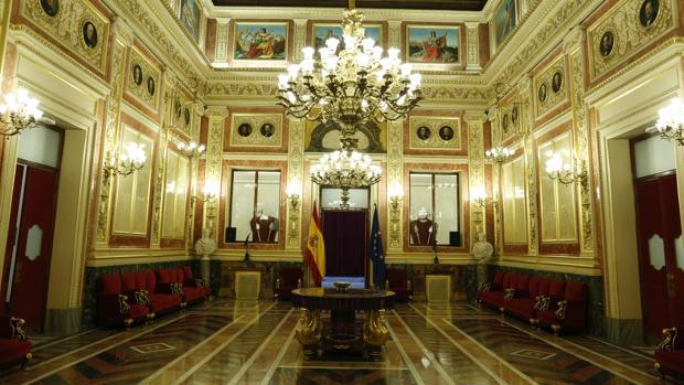 El Salón de los Pasos Perdidos, uno de los principales lugares del Congreso de los Diputados